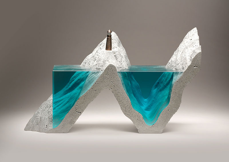 glass wave sculptures by ben young 12 Incredible Glass Wave Sculptures by Ben Young