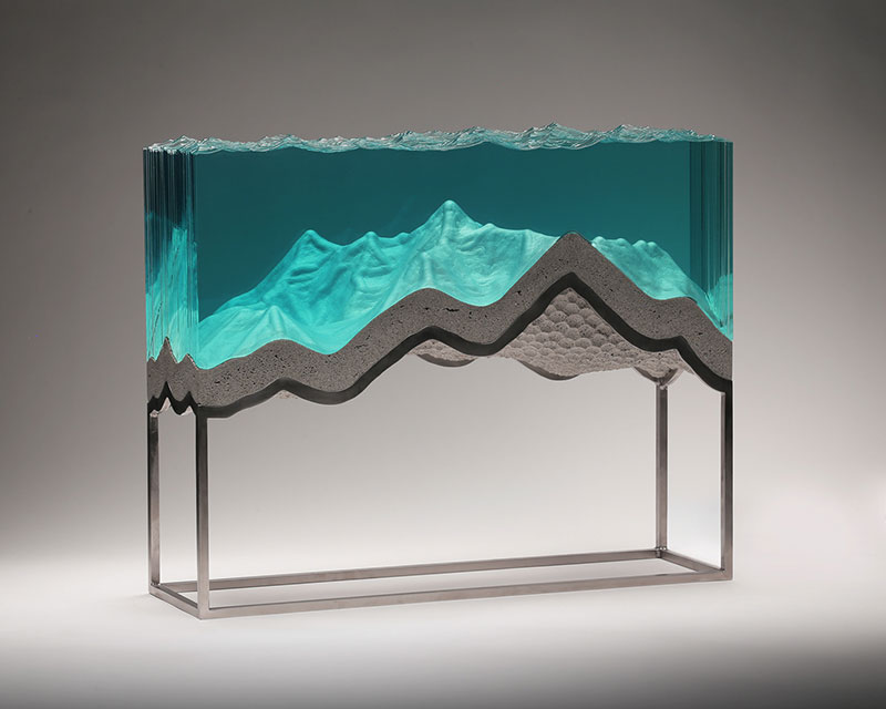 glass wave sculptures by ben young 13 Incredible Glass Wave Sculptures by Ben Young