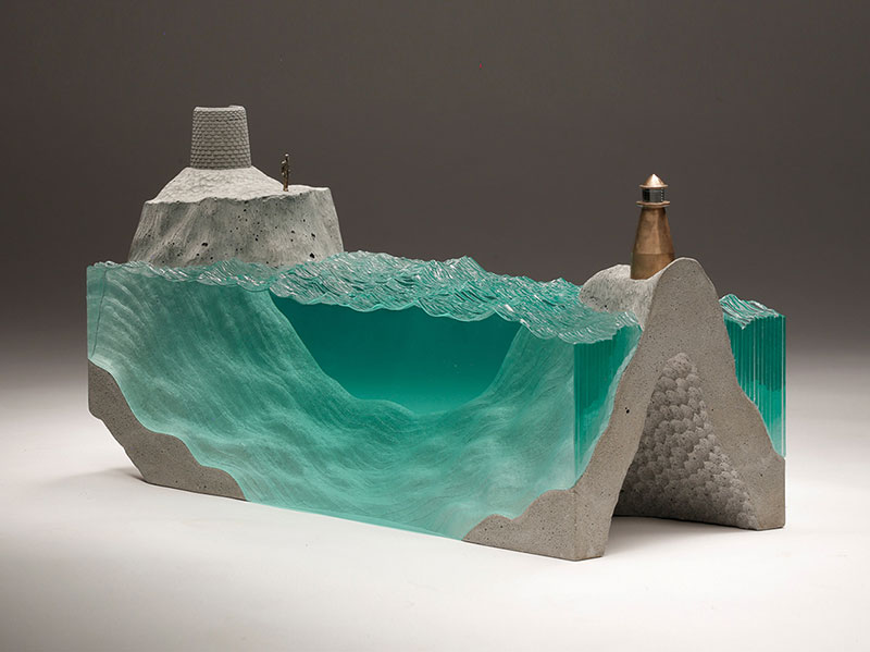 glass wave sculptures by ben young 11 Incredible Glass Wave Sculptures by Ben Young