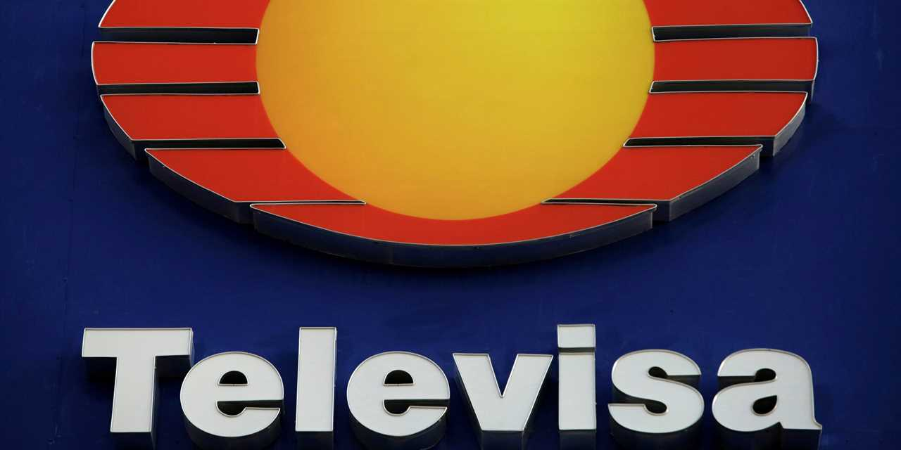 FILE PHOTO: The logo of broadcaster Televisa is pictured at its offices in Ciudad Juarez, Mexico, November 16, 2017. REUTERS/Jose Luis Gonzalez/File Photo
