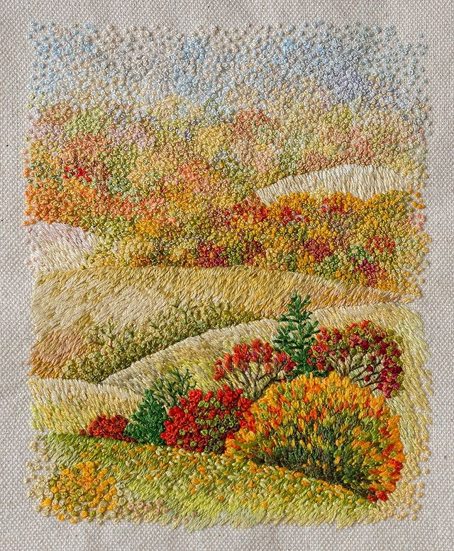 These Embroidered Landscapes by Katrin Vates are Beautiful